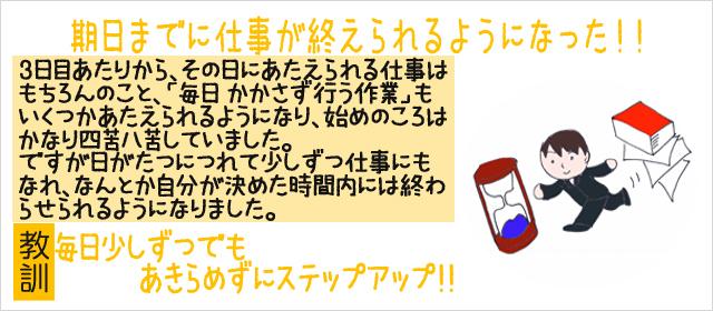 【成功】期日までに仕事が終えられるようになった!!