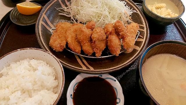 芋豚ミックスカツ定食