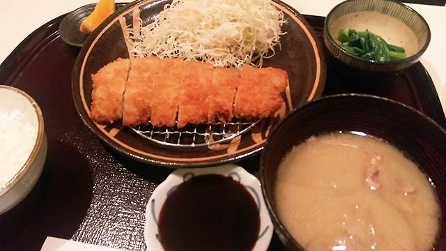 芋豚ロースカツ定食