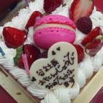 誕生日お祝いケーキ
