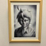 大阪芸大のインターン生からプレゼント絵画