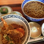 江戸そば やぶそば さんの海老天丼定食