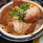 丼丼亭 ホワイティ梅田店さんのかつどんと味噌スープ